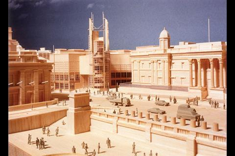 Peter Ahrend's design for the National Gallery Extension